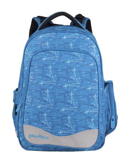 Рюкзак детский BagMaster BM-EV 004 ABM-EV 004 AШкольный рюкзак из полиэстера с двумя внутренними отделениями и большим карманом на молнии на передней части. Во внутреннее отделение помещаются альбомы, тетради, контурные карты и так далее формата А4. Задняя часть армирована легкой алюминиевой рамкой. Д
