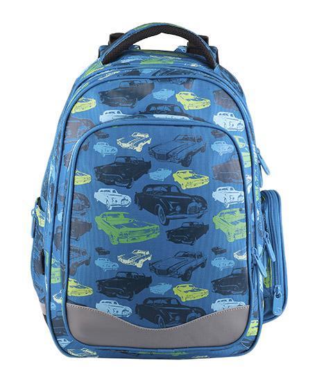 Рюкзак детский BagMaster BM-EV 004 BBM-EV 004 BШкольный рюкзак из полиэстера с двумя внутренними отделениями и большим карманом на молнии на передней части. Во внутреннее отделение помещаются альбомы, тетради, контурные карты и так далее формата А4. Задняя часть армирована легкой алюминиевой рамкой. Д
