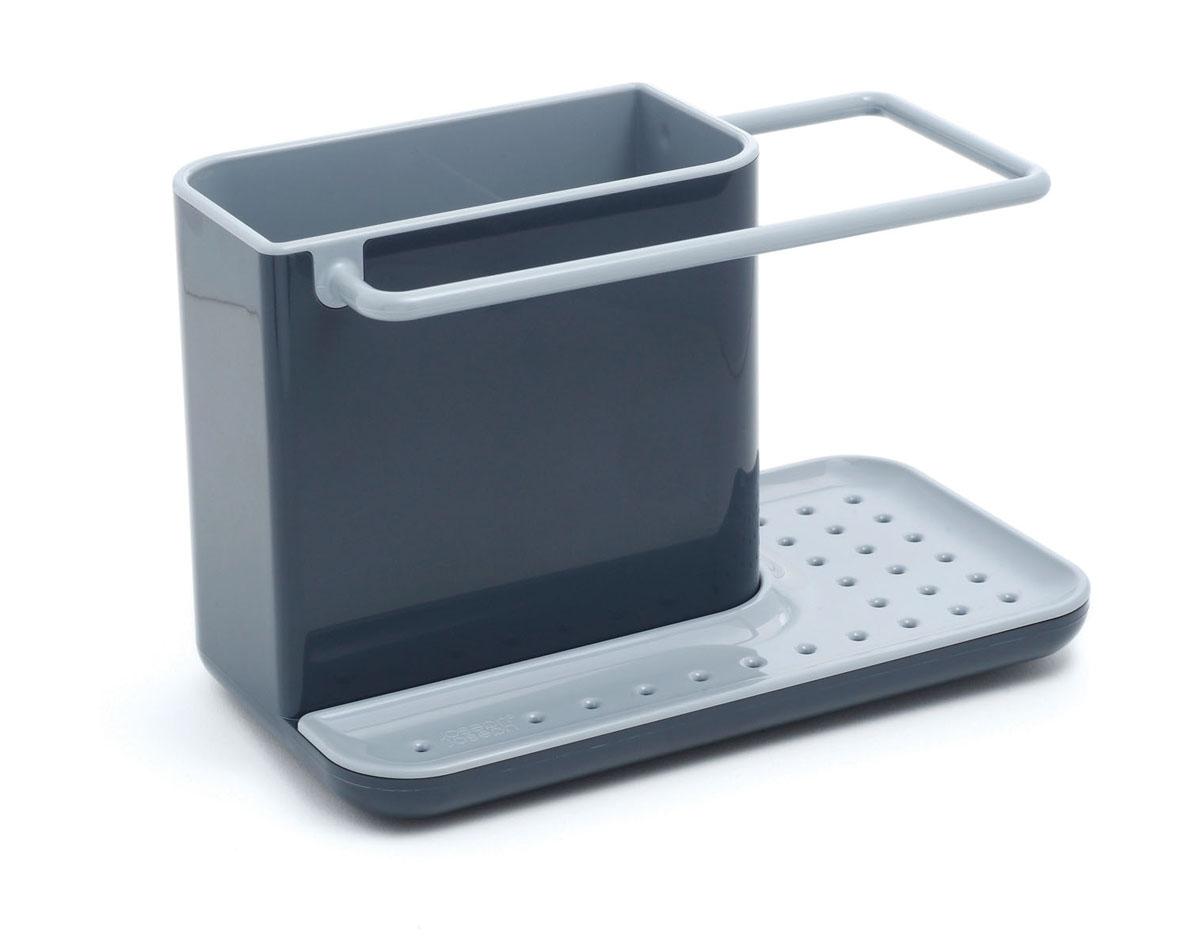 Органайзер для раковины Joseph Joseph Caddy, цвет: серый, черный85022Органайзер для раковины Joseph Joseph Caddy изготовлен из прочного пластика. Это своеобразный органайзер для кухонных принадлежностей, таких как ершик для посуды, жидкость для мытья посуды, губка и тряпка. Для каждого предмета выделен отдельный отсек. Изделие имеет поддон для стока жидкости. На дне расположены резиновые ножки для большей устойчивости. Можно мыть в посудомоечной машине.