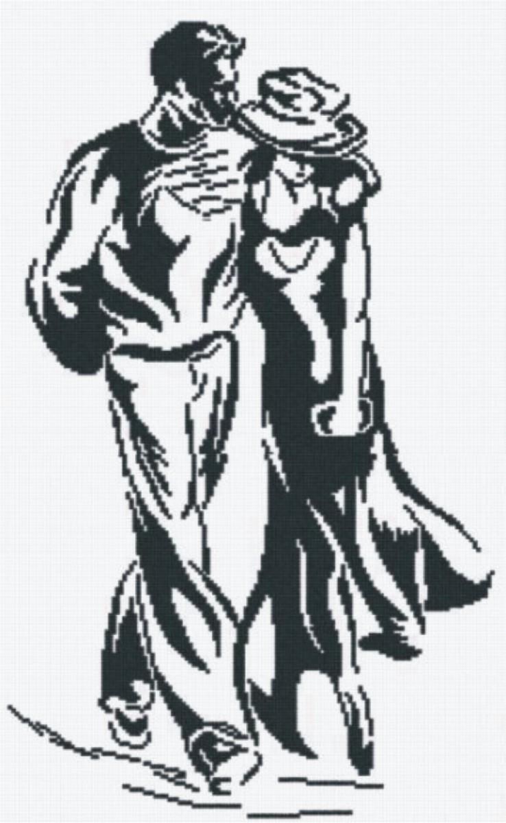 Набор для вышивания крестом М.П.Студия Прогулка, 29 х 45 см НВ-59277027