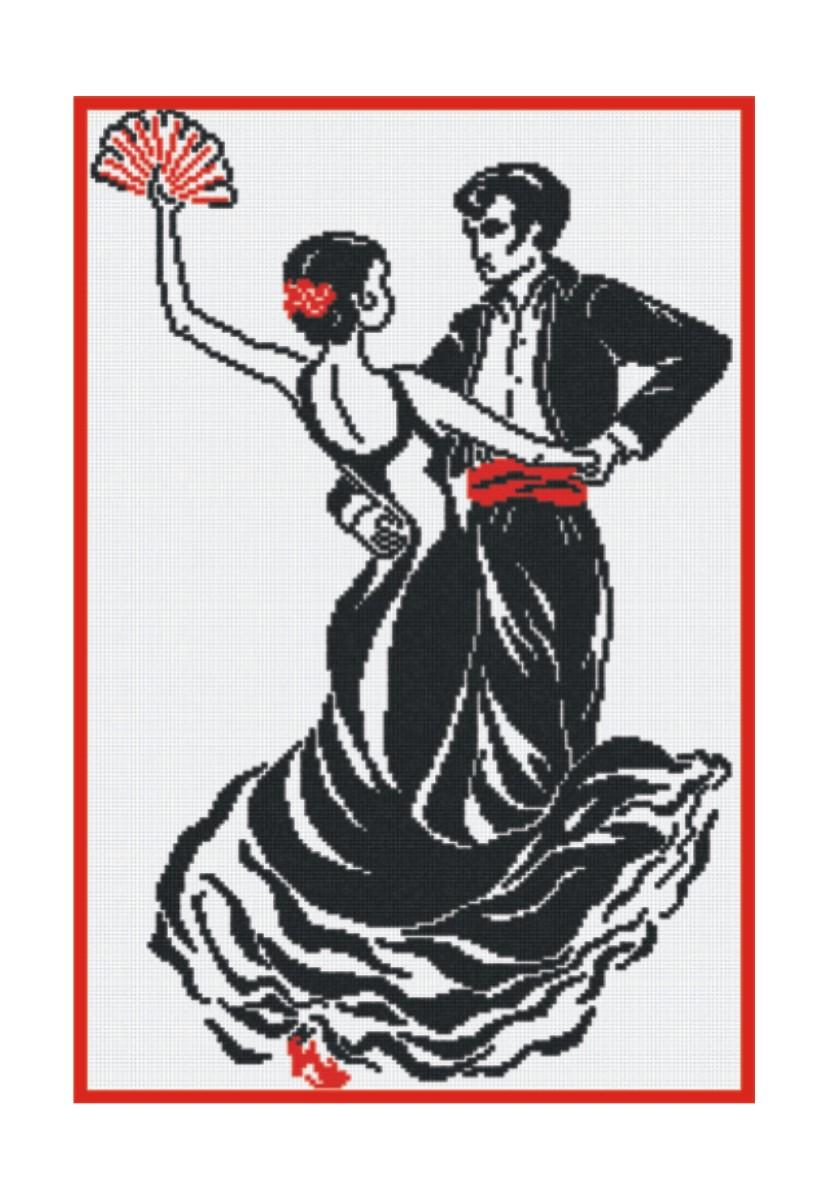 Набор для вышивания крестом М.П.Студия Танец любви, 34 х 51 см НВ-96277057