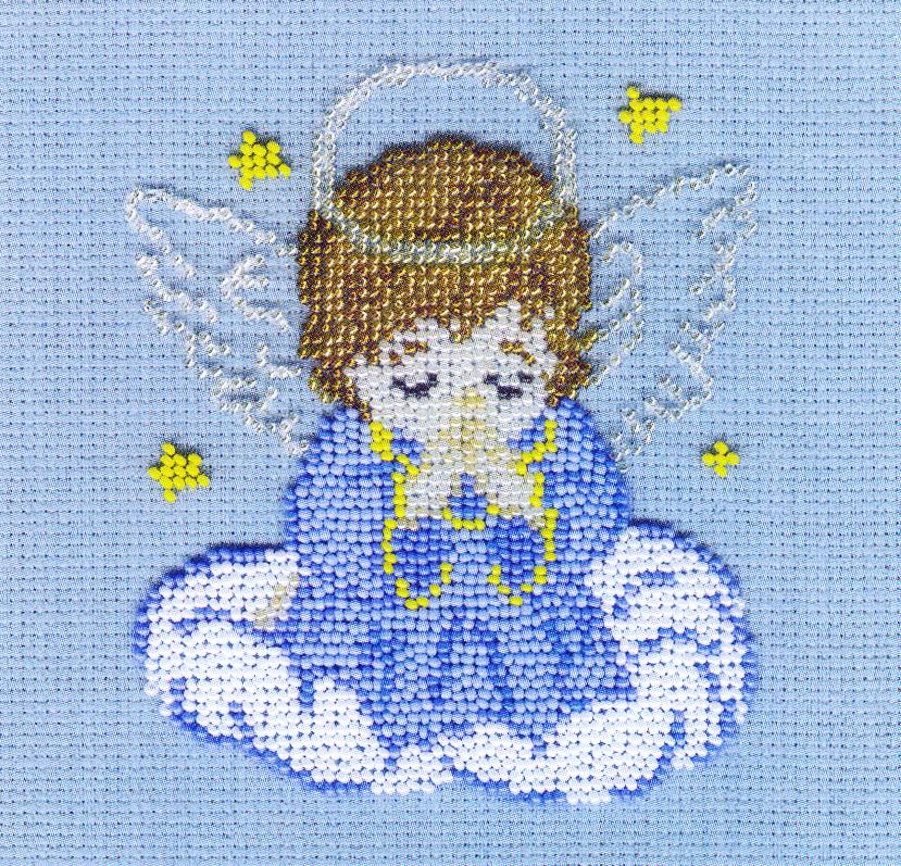 Набор для вышивания бисером Ангелок, 12 х 14 см БК-23277081