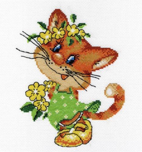 Набор для вышивания крестом Милая кошка, 22 х 20 см277107