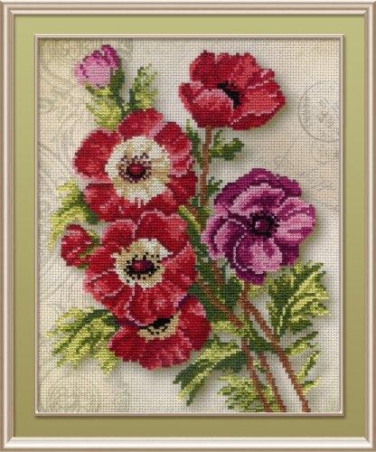 Набор для вышивания крестом М.П.Студия Анемоны, 25 х 20 см РК-318546414