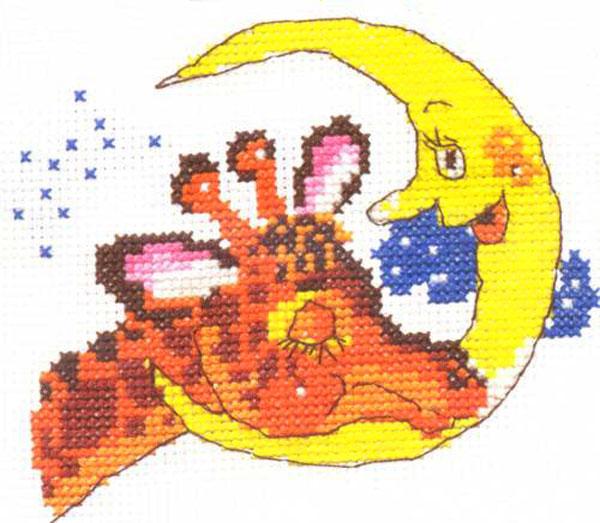 Набор для вышивания крестом Баю-бай, 11 х 9 см661006