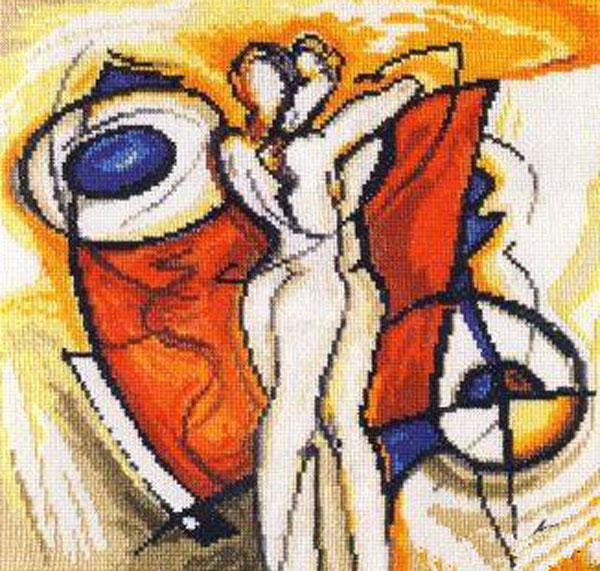 Набор для вышивания крестом Разжигающий страсть, 25 х 25 см661061