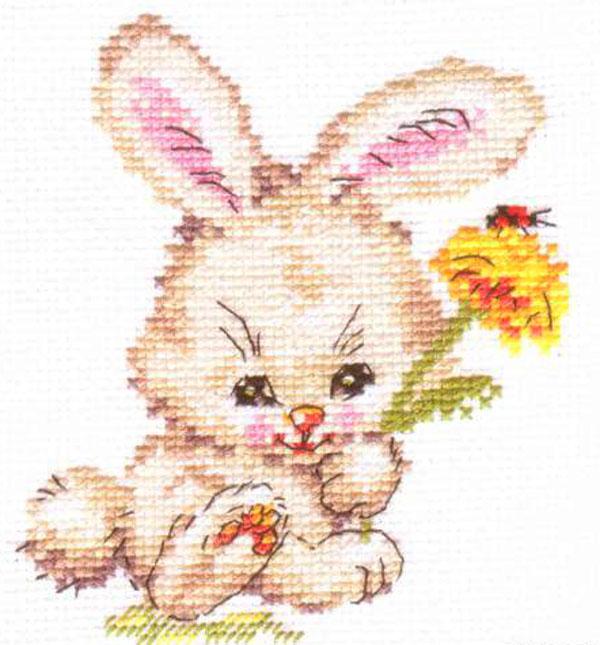 Набор для вышивания крестом Зайка, 10 х 12 см 661088661088Набор для вышивания Зайка поможет вам создать свой личный шедевр - красивую картину, вышитую крестом в технике счетный крест. Работа, выполненная своими руками, станет отличным подарком для друзей и близких! Набор содержит: - белая канва Aida 14 (хлопок), - нитки мулине - 12 цветов (хлопок), - игла, - цветная схема для вышивания, - инструкция на русском языке.