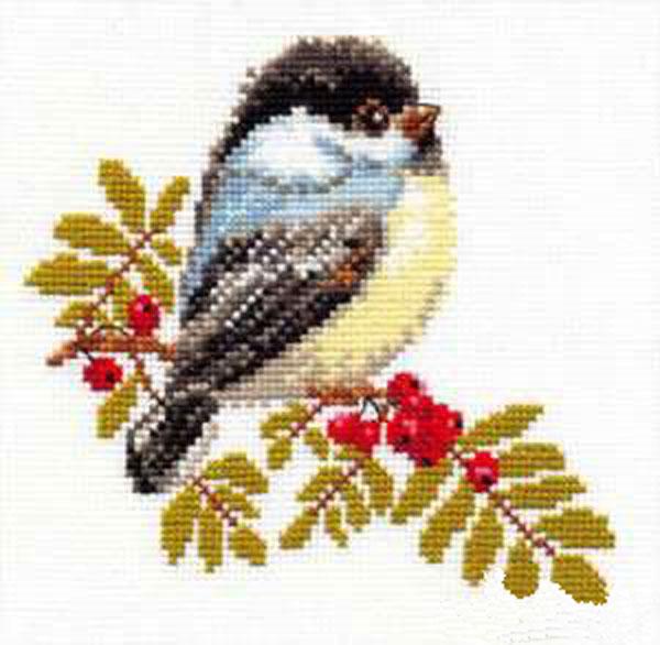 Набор для вышивания крестом Синичка, 15 см х 14 см661124