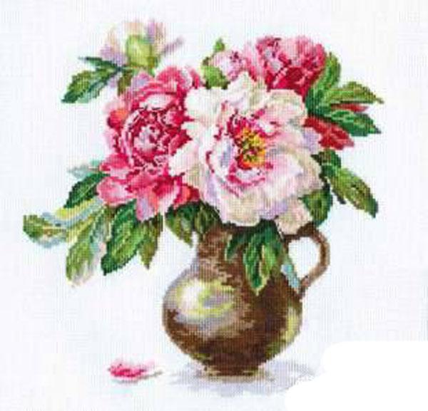 Набор для вышивания крестом Цветущий сад. Пионы, 25 х 26 см 661142661142Набор для вышивания Цветущий сад. Пионы поможет вам создать свой личный шедевр - красивую картину, вышитую крестом в технике счетный крест. Работа, выполненная своими руками, станет отличным подарком для друзей и близких! Набор содержит: - белая канва Aida (хлопок), - нитки мулине - 29 цветов (хлопок), - игла, - схема для вышивания, - инструкция на русском языке.