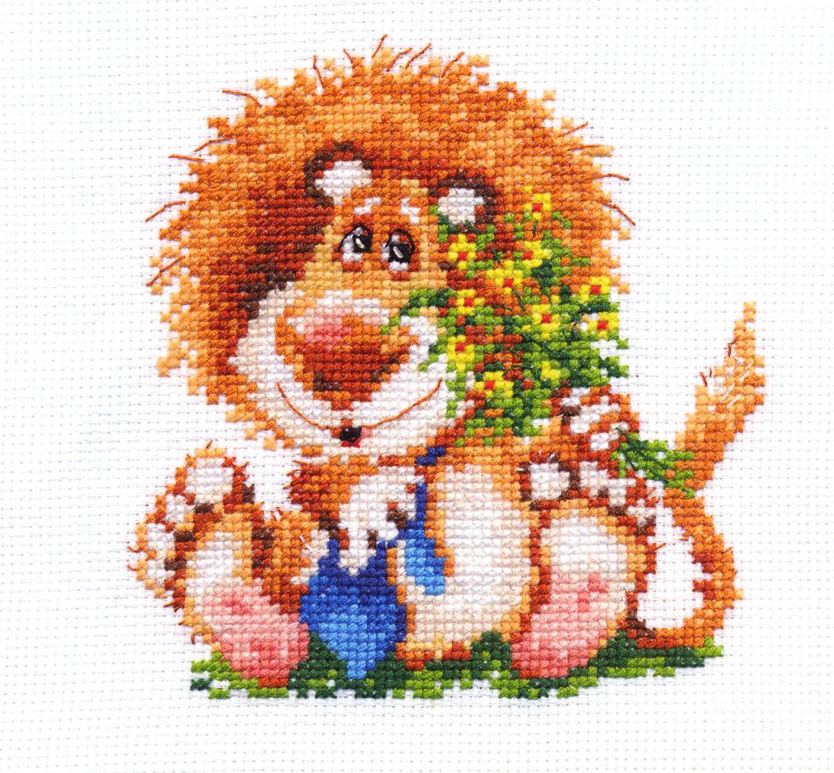 Набор для вышивания крестом Алиса Лева, 12 х 13 см661146