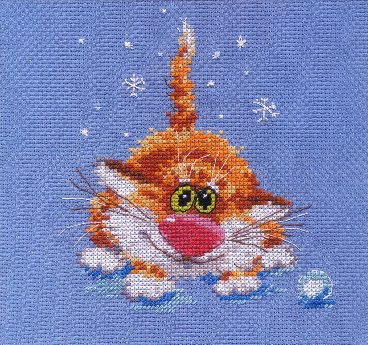 Набор для вышивания крестом Первый снег, 12 х 14 см 661153661153Набор для вышивания Первый снег поможет вам создать свой личный шедевр - красивую картину, вышитую крестом в технике счетный крест. Работа, выполненная своими руками, станет отличным подарком для друзей и близких! Набор содержит: - белая канва Aida 14 (хлопок), - нитки мулине - 13 цветов (хлопок), - игла, - цветная схема для вышивания, - инструкция на русском языке.