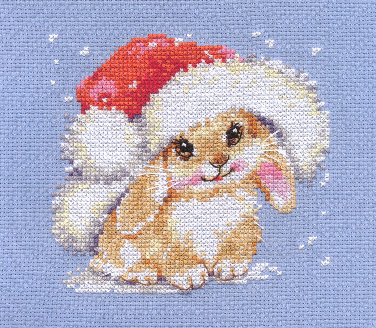Набор для вышивания крестом Алиса Зимний зайчишка,12 см х 12 см661172Набор для вышивания крестиком Алиса Зимний зайчишка позволит вам создать собственными руками красивую картинку. Набор включает в себя все материалы, необходимые для работы: - канва Aida Gamma (21,5 см х 20,5 см); - нитки-мулине Gamma (14 цветов); - цветная схема; - игла Gamma; - инструкция. Красивый и стильный рисунок-вышивка выглядит оригинально и всегда модно. Работа, сделанная своими руками, создаст особый уют и атмосферу в доме, и долгие годы будет радовать ваших близких.
