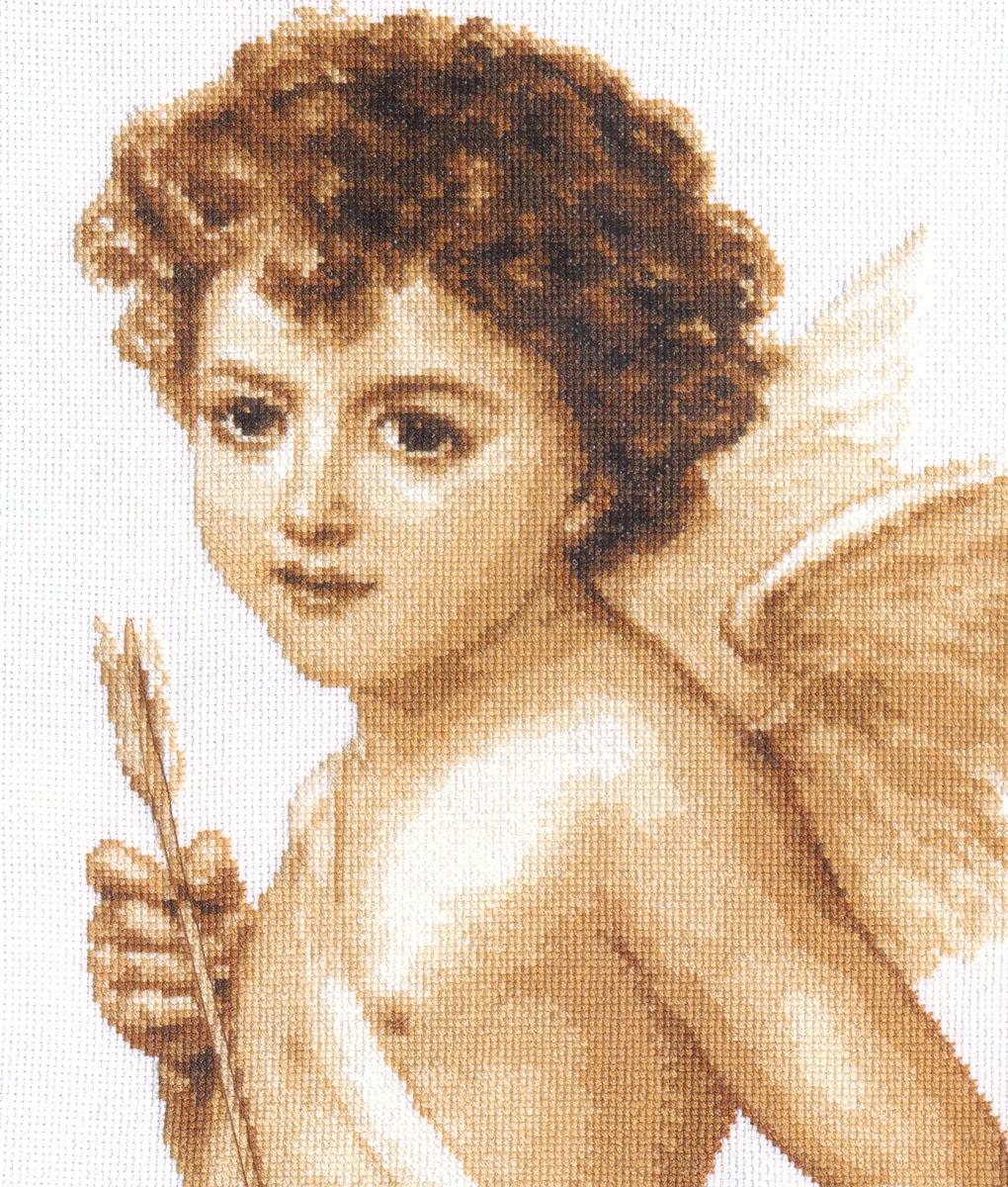 Набор для вышивания крестом Амур, 23 x 29 см661182