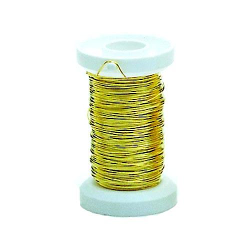 Проволока декоративная латунная Hobby Time, цвет: золотой, 0,30 мм х 40 м685199Проволоку Glorex можно использовать для создания различных изделий бижутерии, для декора фотоальбомов, домашнего интерьера и других целей. Проволока - это очень распространенный и легкодоступный материал. Ее изготавливают из разных металлов и покрывают лаками разных цветов, благодаря чему она обладает прекрасными декоративными свойствами. Проволока является хорошим материалом для плетения, а для достижения эффектного украшения можно сочетать несколько цветов проволоки.