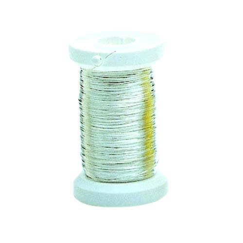 Проволока медная Glorex, цвет: серебристый, 0,25 мм х 40 м685203Проволоку Glorex можно использовать для создания различных изделий бижутерии, для декора фотоальбомов, домашнего интерьера и других целей. Проволока - это очень распространенный и легкодоступный материал. Ее изготавливают из разных металлов и покрывают лаками разных цветов, благодаря чему она обладает прекрасными декоративными свойствами. Проволока является хорошим материалом для плетения, а для достижения эффектного украшения можно сочетать несколько цветов проволоки.