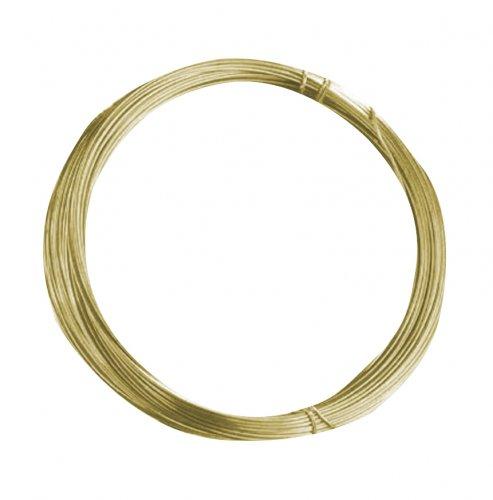 Проволока латунная Glorex, цвет: золотой, 0,40 мм х 20 м685213Проволоку Glorex можно использовать для создания различных изделий бижутерии, для декора фотоальбомов, домашнего интерьера и других целей. Проволока - это очень распространенный и легкодоступный материал. Ее изготавливают из разных металлов и покрывают лаками разных цветов, благодаря чему она обладает прекрасными декоративными свойствами. Проволока является хорошим материалом для плетения, а для достижения эффектного украшения можно сочетать несколько цветов проволоки.