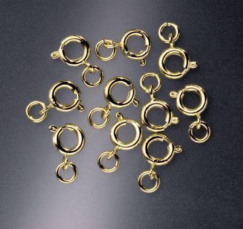 Карабин для бус Glorex, цвет: золотой, 7 мм, 10 шт685370Карабин для бус Glorex выполнен из металла. Он очень удобен в использовании. Легко снимать и надевать бижутерию. Изготовление украшений - это занимательное хобби, это реализация творческих способностей рукодельницы, это возможность создания неповторимого индивидуального подарка.