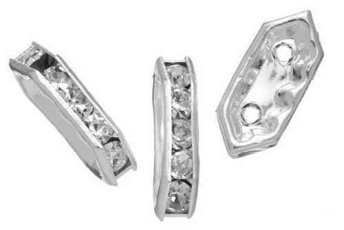 Рондели прямоугольные Glorex, цвет: кристальный, 2,5 х 11 мм, 5 шт686811Рондели позволят своими руками изготовить оригинальные ожерелья или браслеты. Изготовлены из металла. Они станут отличным украшением для различных изделий. Изготовление украшений - это занимательное хобби, это реализация творческих способностей рукодельницы, это возможность создания неповторимого индивидуального подарка.