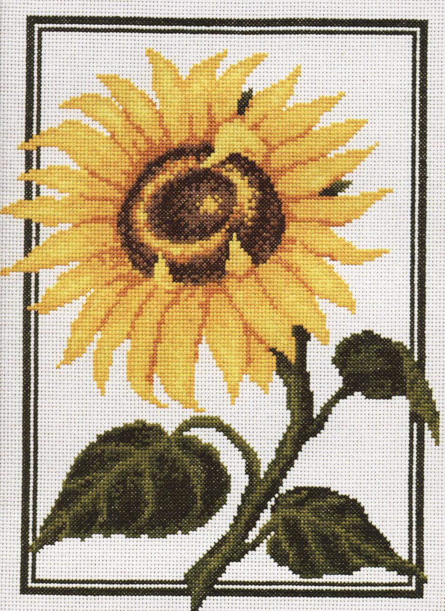 Набор для вышивания крестом Палитра Подсолнух, 23 х 30 см690019