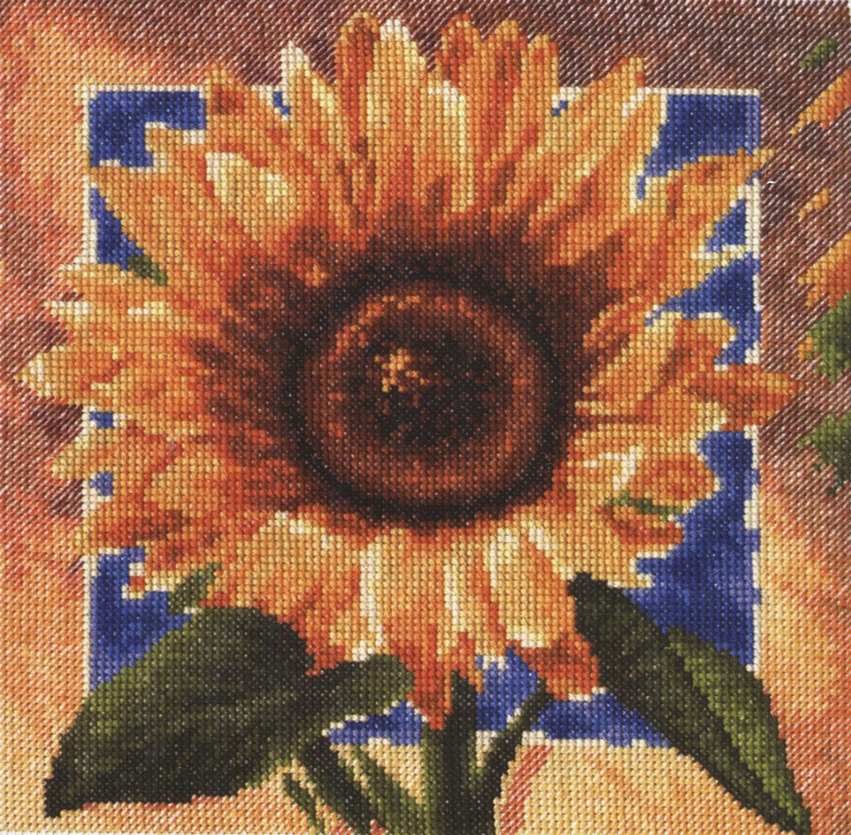 Набор для вышивания крестом Палитра Золотые лепестки, 20 см х 20 см690024