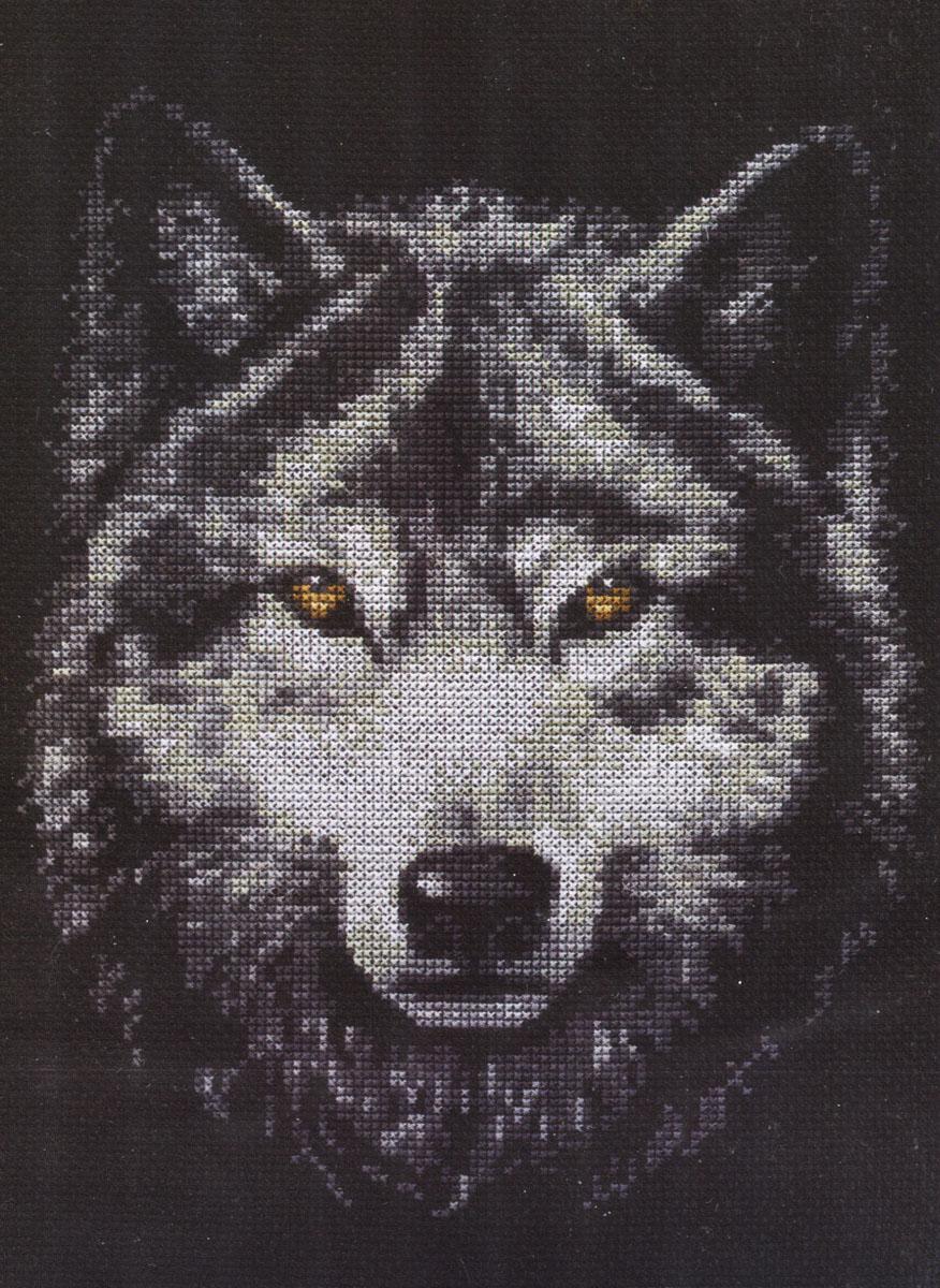 Волчий взгляд вышивка крестом 61