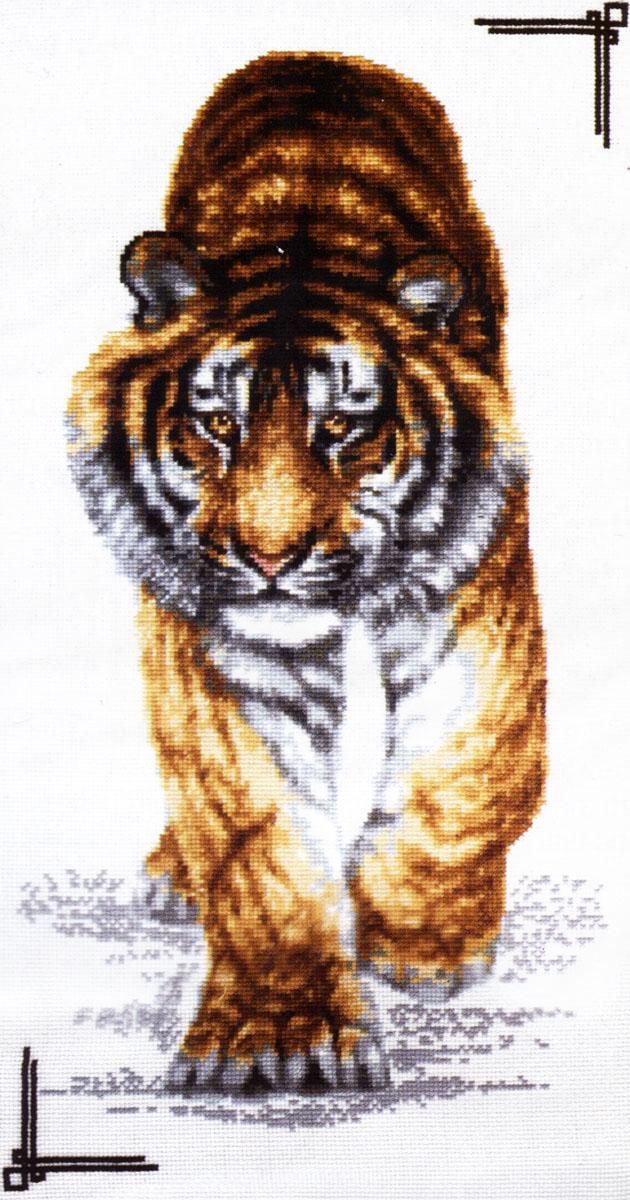 Набор для вышивания крестом Палитра Поступь тигра, 25 см х 47 см690026