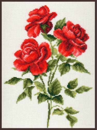 Набор для вышивания крестом Палитра Три розы, 20 х 27 см694008