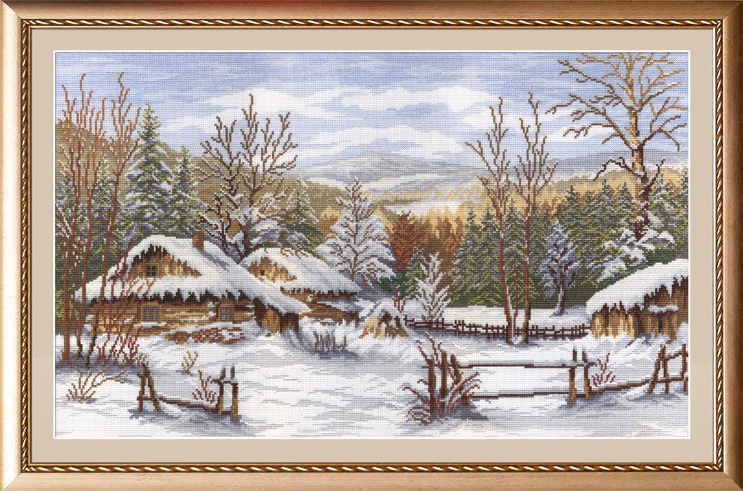 Набор для вышивания крестом М.П.Студия Зима, 31 см х 50 см. НВ-251694811