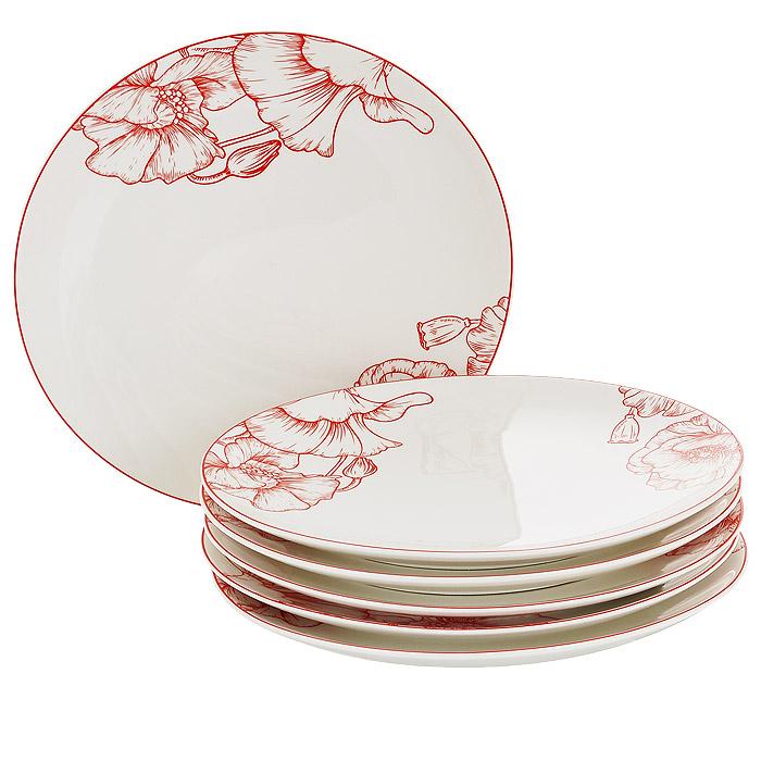 Набор обеденных тарелок Esprado La Passion, диаметр 25 см, 6 штPS20D25E301Набор Esprado La Passion состоит из шести обеденных тарелок, выполненных из высококачественного твердого фарфора. Особое качество твердый фарфор, из которого делается посуда Esprado, имеет благодаря использованию в его изготовлении специального материала - каолина. Каолин - это сорт белой глины, впервые открытый в Китае, который обладает идеальными для производства твердого фарфора свойствами, а именно высокой пластичностью и тугоплавкостью. Посуда из твердого фарфора имеет надглазурную роспись, которая отличается богатой цветовой палитрой, что позволяет воплощать самые яркие идеи. В процессе обжига при температуре в 800°С используется природный газ, а не уголь - это сохраняет глазурь чистой и прозрачной, а саму процедуру делает экологически чистой. Над созданием дизайна коллекций посуды из твердого фарфора Esprado работает международная команда высококлассных дизайнеров, не только воплощающих в жизнь все новейшие тренды, но также и придерживающихся многовековых...