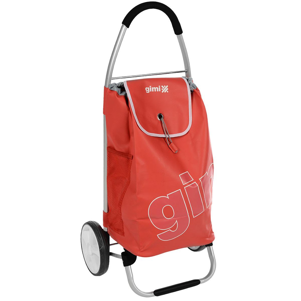 Сумка-тележка Gimi Galaxy, цвет: красный150254501Сумка-тележка Gimi Galaxy это очень мощная сумка-тележка для самых непроходимых дорог и любой непогоды. Легкий каркас из алюминия с надежной подножкой и дополнительными перемычками на основании для повышенной прочности, тщательно изготовленные детали из высокопрочного полимера. Колеса облегченные, со скользящей втулкой для лучшего вращения. Покрытие колес изготовлено из севилена – износостойкого и морозоустойчивого материала. Широкая горловина сумки затягивается на кулиску и накрывается клапаном с оригинальной застежкой. Внутри сумки – вставное пластиковое дно для жесткости и придания формы, по бокам два глубоких кармана из сетки, сзади дополнительный карман на молнии. Максимальная грузоподъемность: 30 кг.
