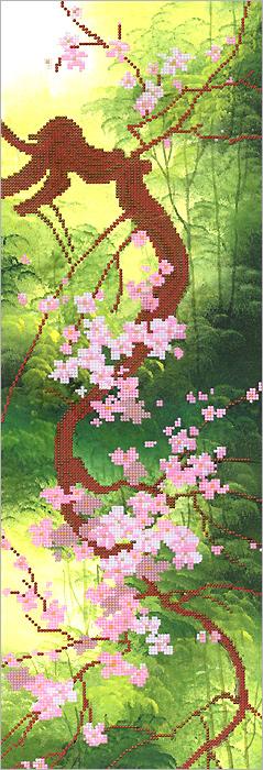 Набор для вышивания бисером Цветущая сакура, 20 см х 60 см697477