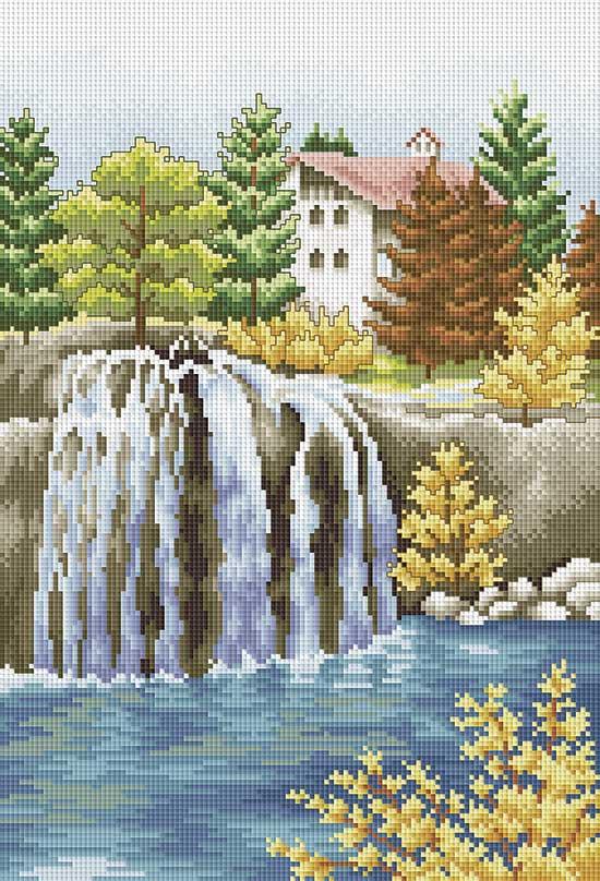 "Белоснежка Набор для творчества ""Мозаика. Водопад"", 32 см х 44 см"