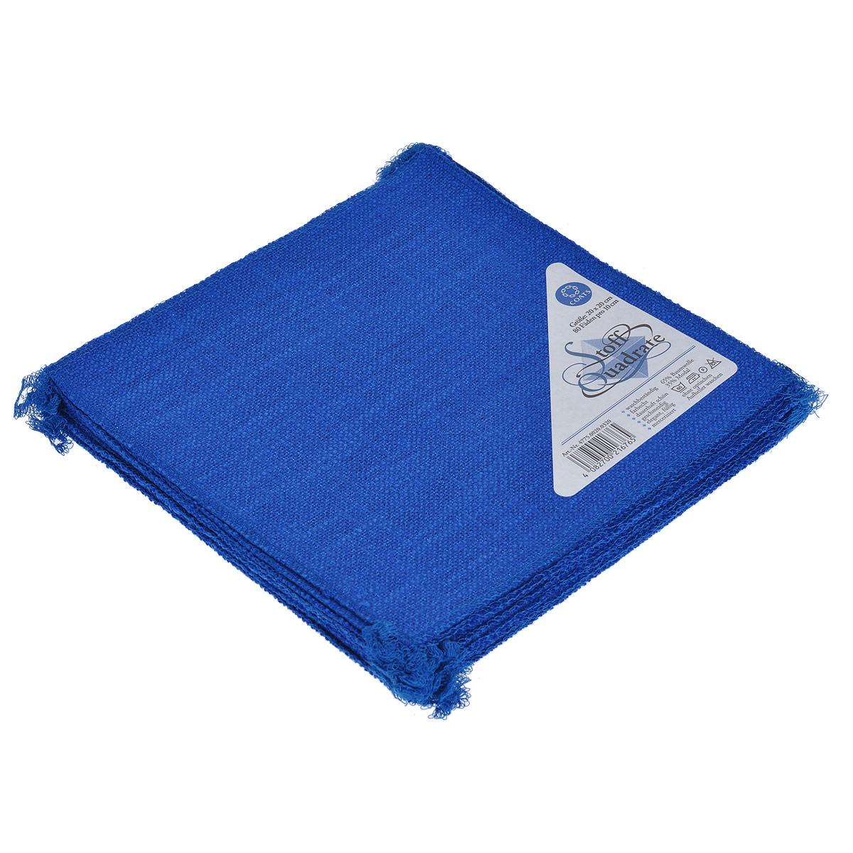 Салфетки для творчества Coats Stoff Quadrate, цвет: синий, 20 шт, 20 см х 20 см4775.0020.0320