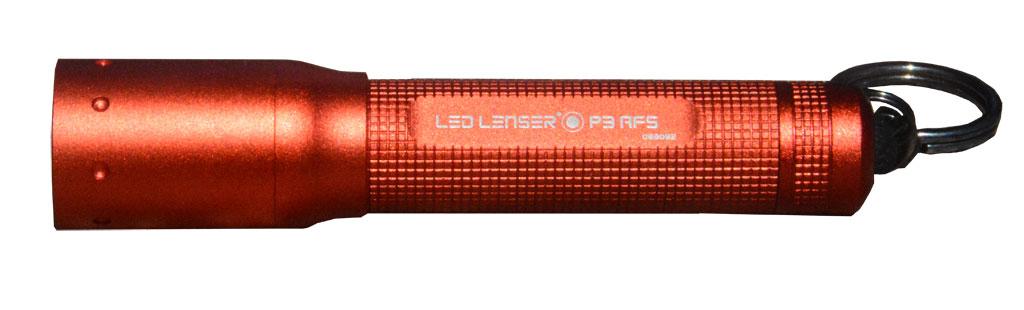Фонарь LED Lenser P3-АFS, цвет: красный
