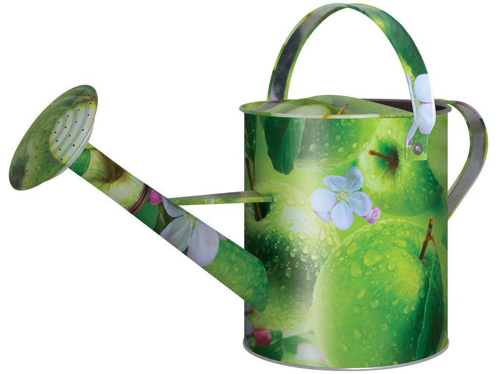 Лейка садовая Яблоки, цвет: зеленый, 10 л. 1037-10-61037-10-6