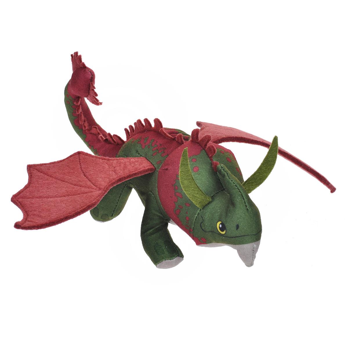 Мягкая игрушка Dragons Крушиголов, цвет: зеленый, бордовый, 24 см66572_зеленыйМягкая плюшевая игрушка Dragons Крушиголов вызовет улыбку у каждого, кто ее увидит. Игрушка выполнена из приятного на ощупь текстильного материала в виде дракона - точной копии дракона из мультфильма Как приручить дракона 2. У игрушки маленькая голова, длинный хвост и большие крылья. Эта забавная игрушка принесет радость и подарит своему обладателю мгновения приятных воспоминаний. Такая игрушка станет отличным подарком вашему ребенку!