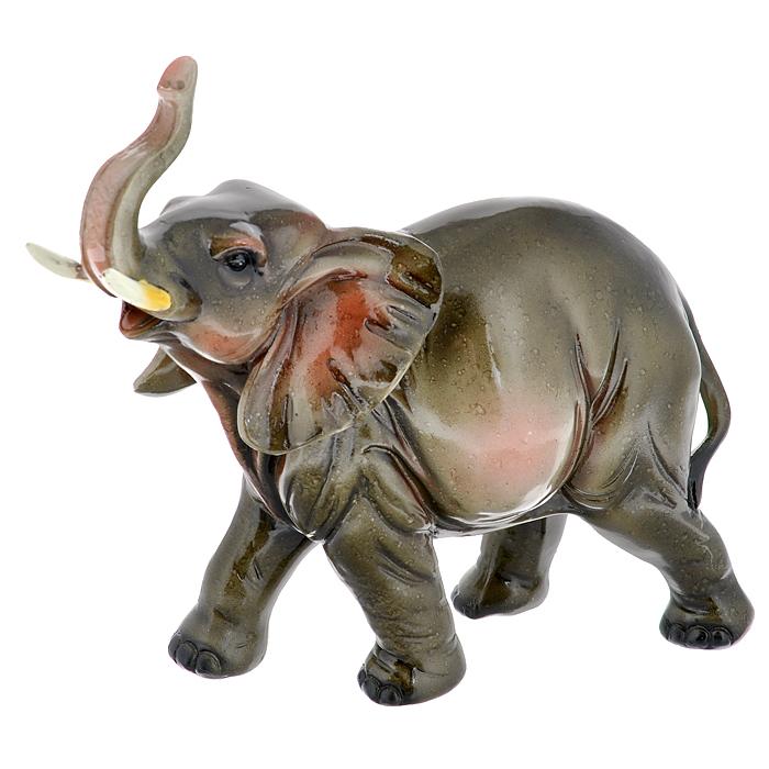 Статуэтка Серый слон, высота 22 см512-135