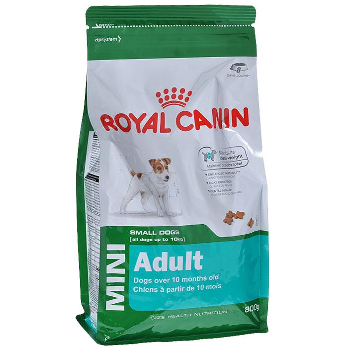 Корм сухой Royal Canin Mini Adult, для собак мелких размеров с 10 месяцев до 8 лет, 800 г3124Корм сухой Royal Canin Mini Adult - полнорационный сухой корм для поддержания прекрасной физической формы собак мелких размеров (вес взрослой собаки до 10 кг) с 10 месяцев до 8 лет. Поддержание идеального веса. L-карнитин стимулирует метаболизм жиров в организме. Удовлетворяет высокие энергетические потребности собак мелких размеров благодаря точно рассчитанной энергоемкости рациона (3737 ккал/кг) и сбалансированному содержанию белка (26%). Улучшенные вкусовые качества. Стимулирует аппетит благодаря своим уникальным свойствам. Текстура, форма и размер крокет специально разработаны для облегчения захвата корма. Тщательно отобранные ингредиенты, натуральные ароматизаторы и современная упаковка, сохраняющая свежесть и аромат продукта, гарантируют его превосходный вкус. Здоровая шерсть. Питает шерсть благодаря включению в состав корма серосодержащих аминокислот (метионин и цистин), жирных кислот Омега 6 и витамина А. Здоровье зубов. Помогает замедлить...