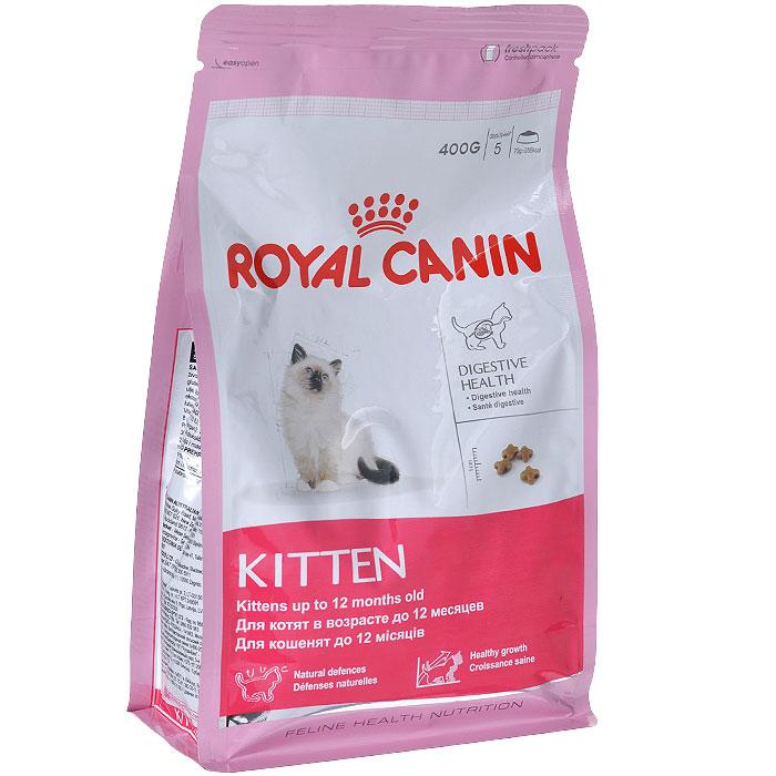 Корм сухой Royal Canin Kitten, для котят до 12 месяцев, 400 г2379Сухой корм Royal Canin Kitten - полнорационный корм для котят до 12 месяцев. Здоровье пищеварительной системы. В течение периода роста пищеварительная система котенка остается несовершенной и продолжает постепенно развиваться в течение еще нескольких недель. Уникальная комбинация питательных веществ помогает поддерживать здоровое пищеварение котенка и нормализует стул. Легкоусвояемые белки (L.I.P.), адаптированное содержание клетчатки (в том числе подорожника и пребиотиков) способствует балансу кишечной микрофлоры. Естественная защита. Комплекс антиоксидантов и пребиотики, содержащиеся в продукте KITTEN, поддерживают естественные защитные силы котенка. Гармоничный рост. Сбалансированное содержание легкоусвояемых белков (L.I.P.), витаминов и минеральных веществ в продукте KITTEN способствует росту котенка, а также удовлетворяет его энергетические потребности в период интенсивного роста. LIP. Благодаря высокоусвояемым белкам L.I.P. (90%...