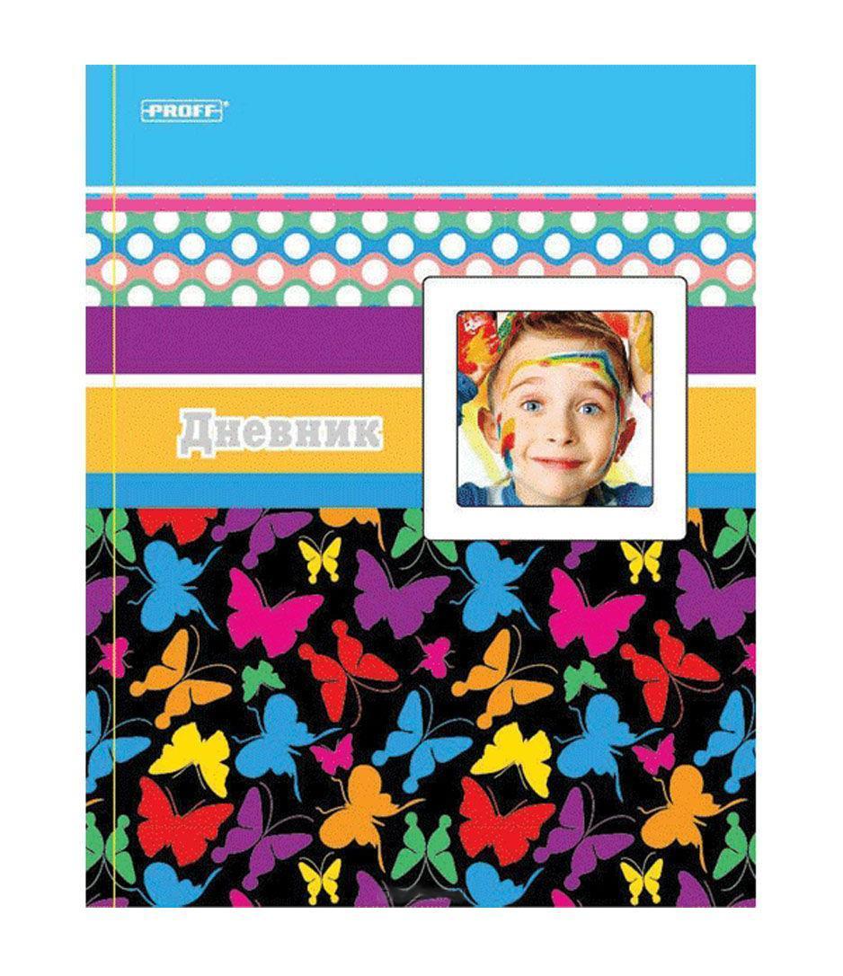 Дневник школьный Proff Butterfly, тонир. офсет/твердая обложка из художеств. бумаги/тиснение фольгой/рамка для фотографии40ДТ5B_11822