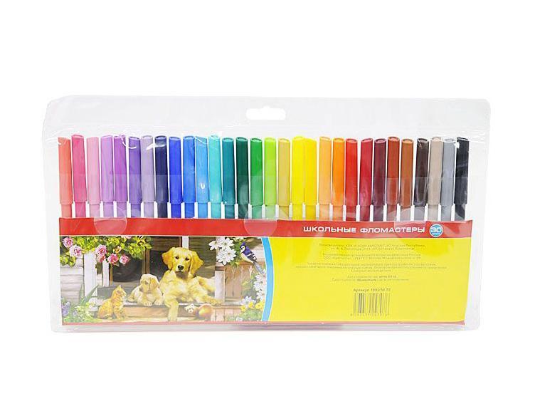 Фломастеры Koh-I-Noor Домашние животные, 30 цветов1002/30 TE