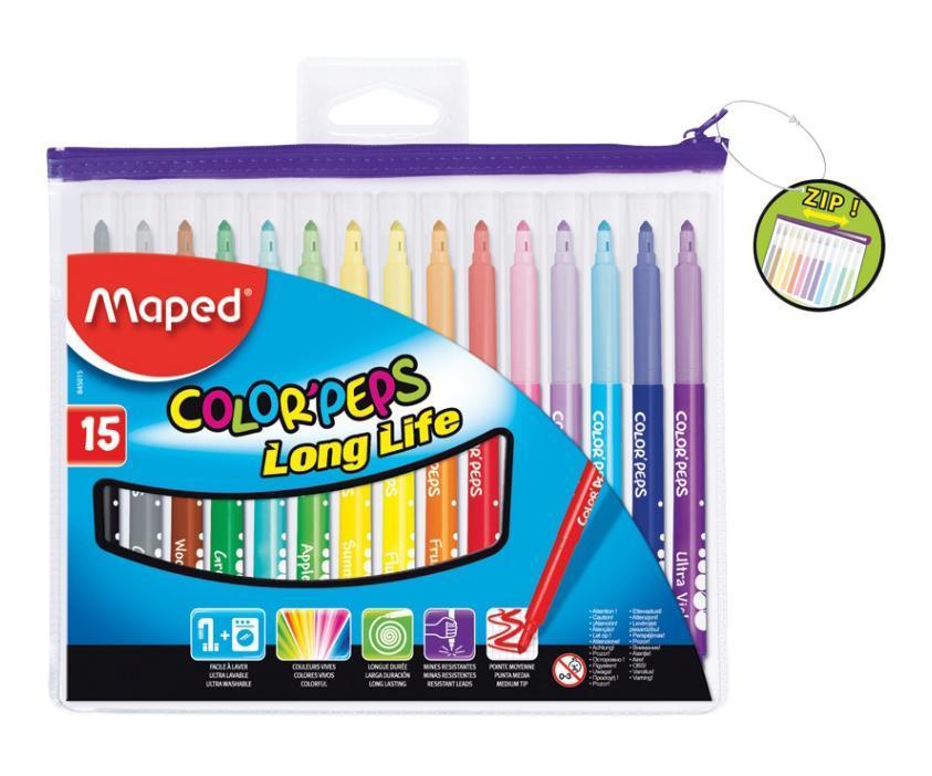 Фломастеры Maped Colorpeps, 15 цветов845015