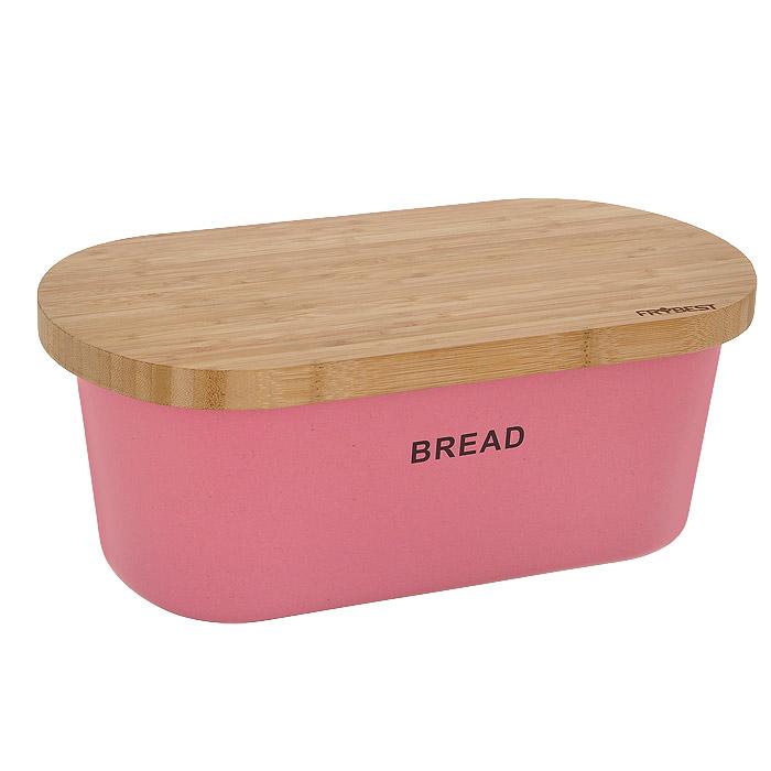 Хлебница Frybest Bamboo, с разделочной доской, цвет: розовый. BM-01-2BM-01-2Хлебница Frybest Bamboo состоит из глубокой чаши розового цвета и двусторонней разделочной доски, которая также служит крышкой. Чаша изготовлена из бамбукового волокна - экологически чистого материала, который не содержит примесей и токсинов, что важно для здоровья человека. Кроме того, это биоразлагаемый материал, который не вредит окружающей среде. Разделочная доска выполнена из древесины бамбука. На одной из сторон имеется 7 желобков для стока жидкости. Натуральная посуда из бамбукового волокна - это строгая элегантность и изящество. Прекрасный выбор для тихого романтического ужина на террасе. Вместительность, функциональность и стильный дизайн позволят хлебнице Frybest Bamboo стать не только незаменимым аксессуаром на кухне, но и предметом украшения интерьера. В ней хлеб всегда останется свежим и вкусным. Можно использовать при температуре от -20°С до +70°С. Максимальное использование при температуре +70°С не более двух часов. Не использовать в...