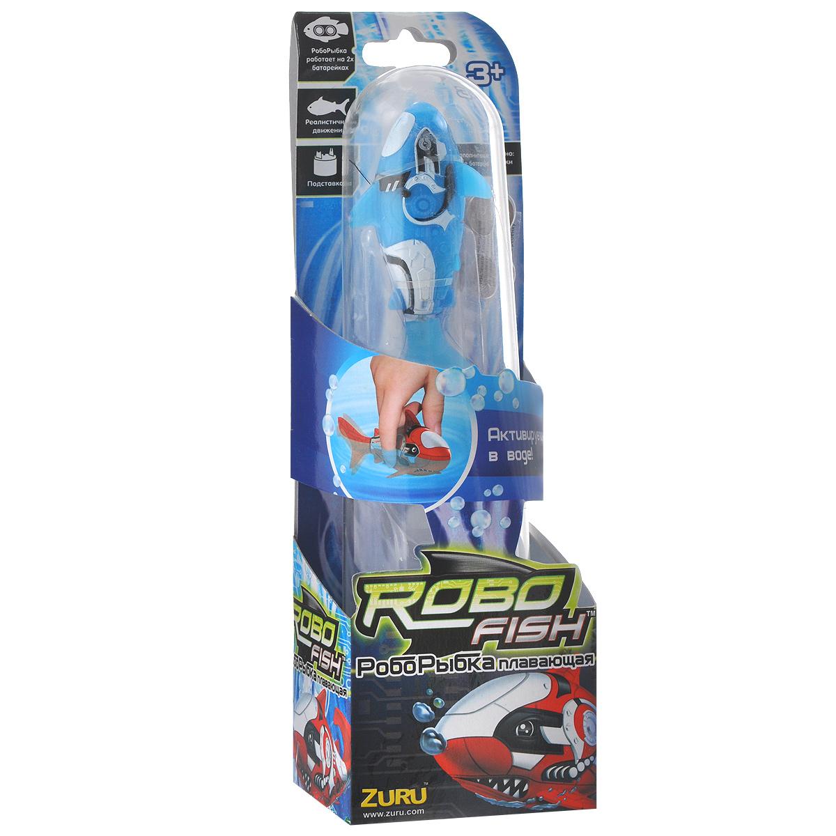 Игрушка для ванны Robofish РобоРыбка: Акула, цвет: голубой2501-6Игрушка для ванны Robofish РобоРыбка: Акула понравится вашему малышу и превратит купание в веселую игру. Она выполнена из безопасного пластика с элементами металла в виде маленькой красочной акулы. При погружении в ванну, аквариум или другую емкостью с водой РобоРыбка начинает плавать, опускаясь ко дну и поднимаясь к поверхности воды. Акула прекрасно имитирует повадки настоящей рыбы. Траектория ее движения зависит от наклона хвоста. Внутри рыбки находится специальный грузик, регулирующий глубину ее погружения. Если рыбка плавает на дне, не всплывая, - уберите грузик; если на поверхности - добавьте грузик. Набор включает подставку, на которой можно разместить рыбку, пока вы с ней не играете. Порадуйте вашего ребенка таким замечательным подарком! Игрушка работает от 2 батарей напряжением 1,5V типа LR44 (2 установлены в игрушку и 2 запасные).