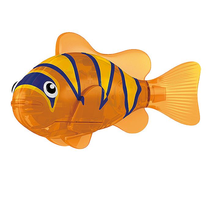 Игрушка для ванны Robofish Тропическая РобоРыбка: Бычок, цвет: оранжевый2549-5Игрушка для ванны Robofish Тропическая РобоРыбка понравится вашему малышу и превратит купание в веселую игру. Она выполнена из безопасного пластика с элементами металла в виде маленькой красочной рыбки. При погружении в ванну, аквариум или другую емкостью с водой РобоРыбка начинает плавать, опускаясь ко дну и поднимаясь к поверхности воды. Игрушка прекрасно имитирует повадки настоящей рыбы. Траектория ее движения зависит от наклона хвоста. Внутри рыбки находится специальный грузик, регулирующий глубину ее погружения. Если рыбка плавает на дне, не всплывая, - уберите грузик; если на поверхности - добавьте грузик. Набор включает подставку, на которой можно разместить рыбку, пока вы с ней не играете. Порадуйте вашего ребенка таким замечательным подарком! Игрушка работает от 2 батарей напряжением 1,5V типа LR44 (2 установлены в игрушку и 2 запасные).