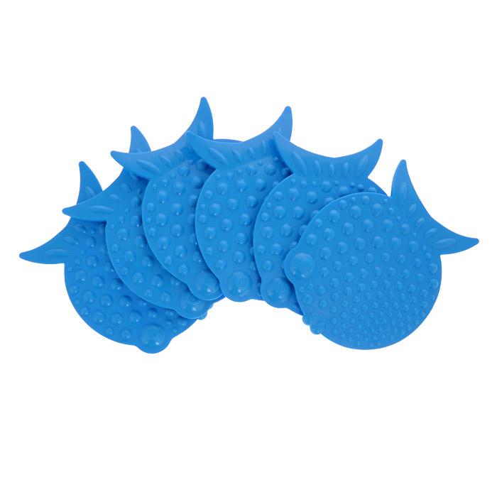 Набор мини-ковриков для ванной Перламутровая рыба, цвет: голубой, 6 шт837-020Набор Перламутровая рыба включает шесть мини-ковриков для ванной. Изготовлены из PVC (полимерные материалы). Коврики оснащены присосками, предотвращающими скольжение. Крепятся на дно ванны, также можно использовать как декор для плитки. Легко чистить. Комплектация: 6 шт. Материал: 100% полимерные материалы. Размер мини-коврика: 12 см х 9,5 см.