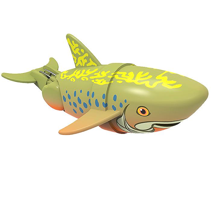 Игрушка для ванны Renwood Рыбка-акробат Брукс, цвет: хаки126211-3Игрушка для ванны Renwood Рыбка-акробат понравится вашему малышу и превратит купание в веселую игру. Она выполнена из безопасного пластика в виде маленькой красочной рыбки. Рыбка-акробат умеет плавать и нырять. Траектория движения игрушки зависит от наклона хвоста. Порадуйте вашего ребенка таким замечательным подарком! Игрушка работает от 2 батарей напряжением 1,5V типа ААА (не входят в комплект).