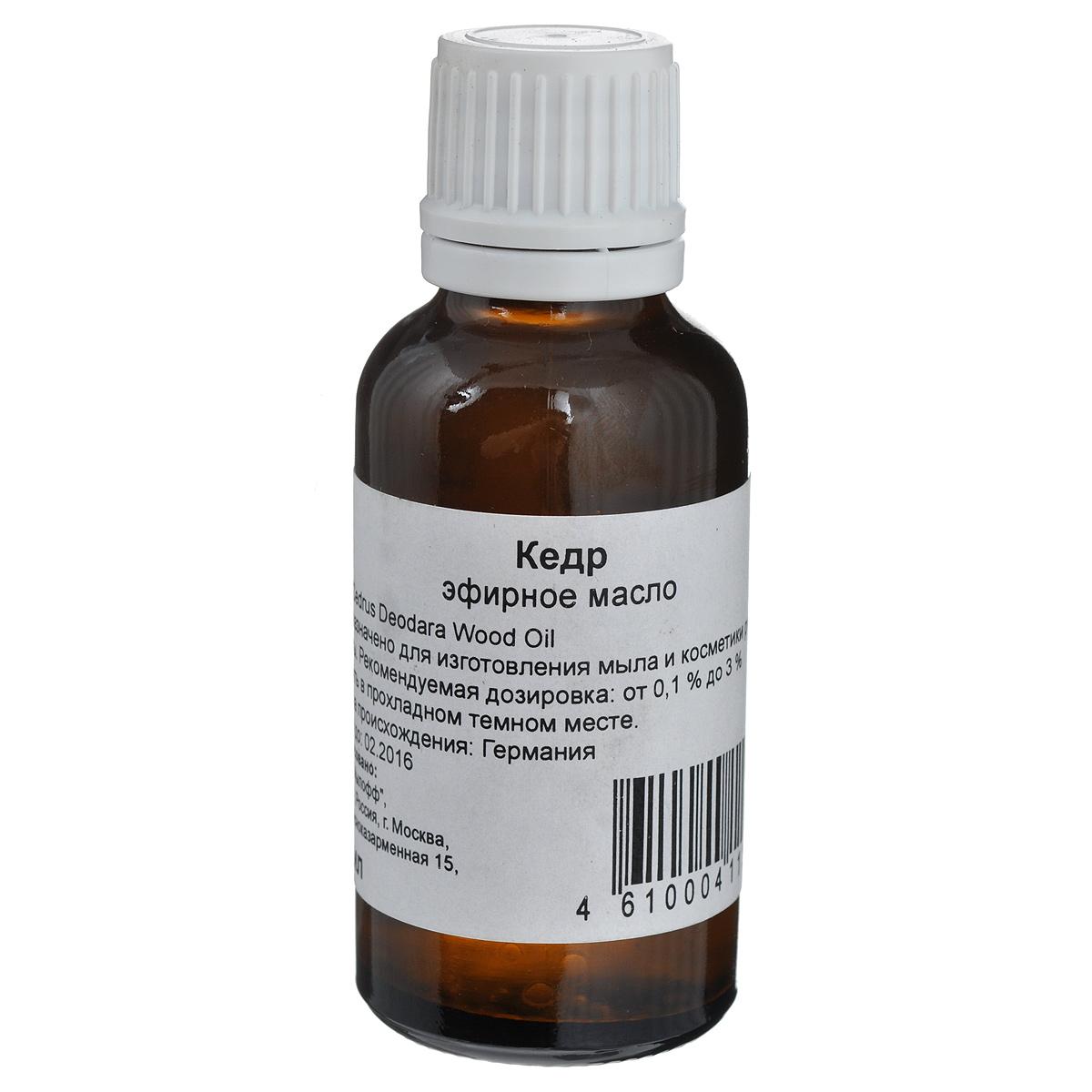 Масло эфирное Кедр, 30 млФР-00001387Благодаря успокаивающим свойствам масло кедра благотворно воздействует на человека в состоянии нервного напряжения и тревоги. Используется при медитации. Многие говорят о способности масла направлять заблудшие души на путь истинный, но обоснованность подобного утверждения нуждается в проверке. Хорошее тонизирующее средство для волос, может эффективно помогать при себорее кожи головы, а такте от перхоти и облысения. Свойство смягчать кожу еще более отчетливо проявляется при смешивании его с маслами кипариса и ладанного дерева. Предназначено для изготовления мыла и косметики ручной работы.