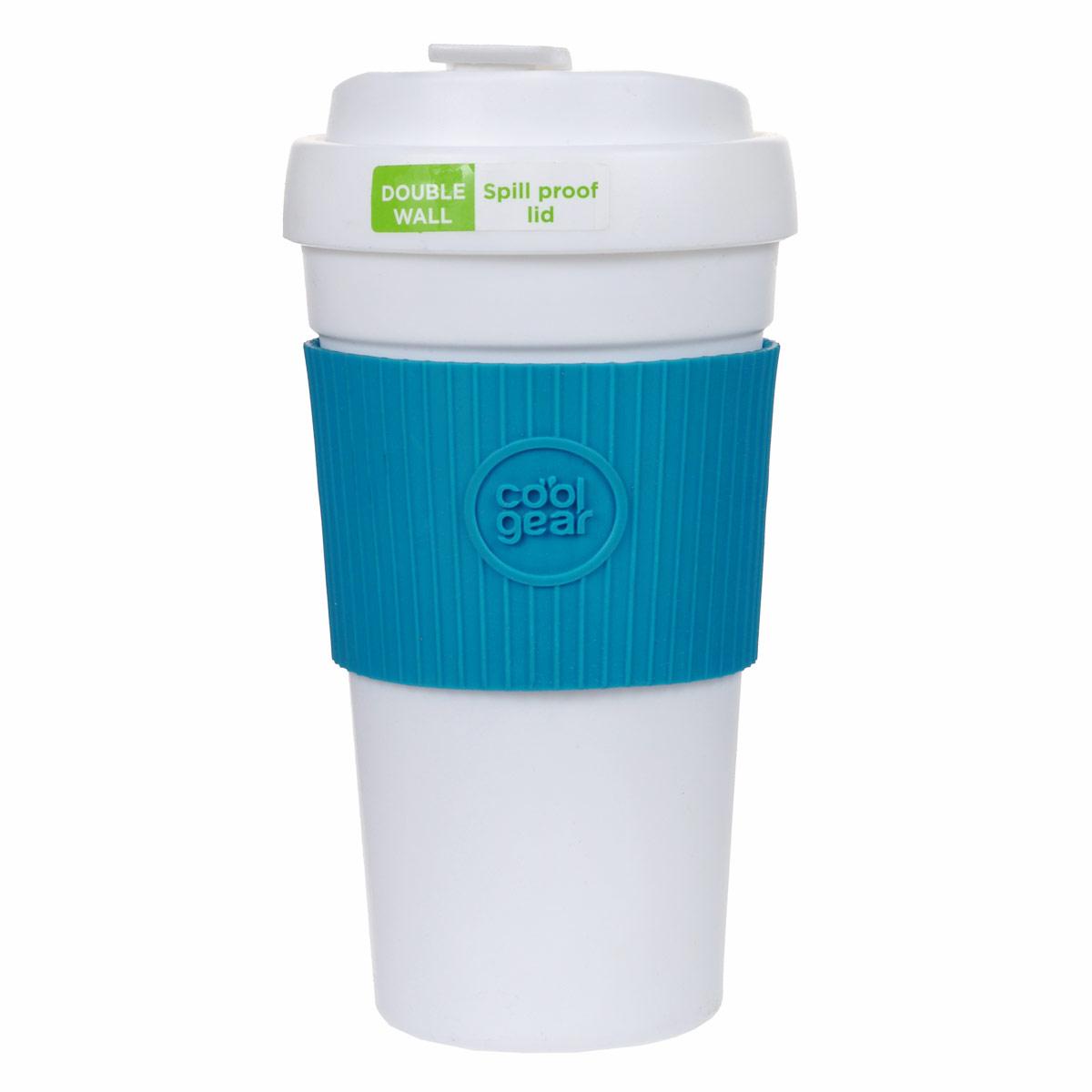 Кружка дорожная Cool Gear Eco 2 Go, для горячих напитков, цвет: голубой, 450 мл. 11321132Дорожная кружка Cool Gear Eco 2 Go изготовлена из высококачественного BPA-free пластика, не содержащего токсичных веществ. Двойные стенки дольше сохраняют напиток горячим и не обжигают руки. Надежная закручивающаяся крышка с защитой от проливания обеспечит дополнительную безопасность. Крышка оснащена клапаном для питья. Оптимальный объем позволит взять с собой большую порцию горячего кофе или чая. Антискользящий ободок предотвращает выскальзывание кружки из рук. Кружка идеальна для ежедневного использования. Она станет вашим обязательным спутником в длительных поездках или занятиях зимними видами спорта. Не рекомендуется использовать в микроволновой печи и мыть в посудомоечной машине. Cool Gear - мировой лидер в сфере производства товаров для питья, продукция которого пользуется огромной популярностью по всему миру! Ассортимент компании включает более 120 видов бутылок для питья и дорожных кружек. Выбирайте для себя лучшее с Cool...