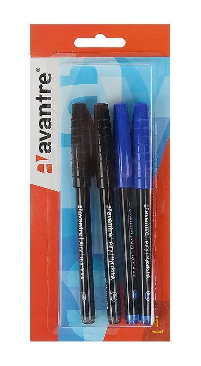 Набор шариковых ручек Avantre Airy, цвет: синий, черный, 4 штHB01BT4